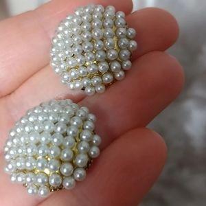Designer Piercing Pearls Earrings